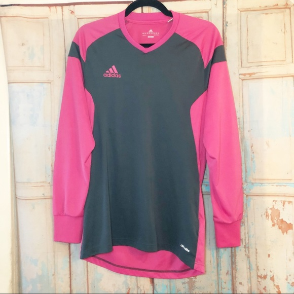 adidas Tops - Adidas Climalite pink long sleeve with elbow pads